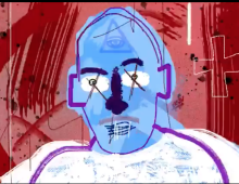 untitled self portrait in blue 93 (Animation)
